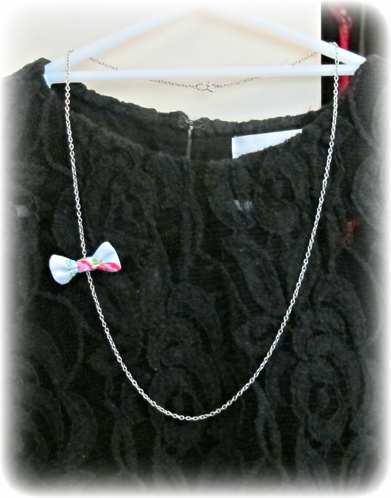 image asymmetrical fabric bow necklace two cheeky monkeys