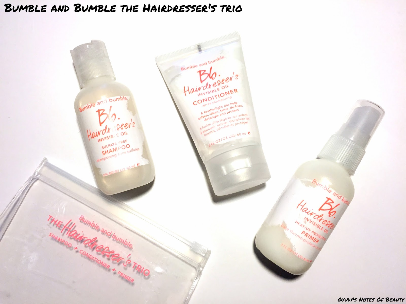 Bumble and bumble hairdresser's trio shampoo conditioner primer