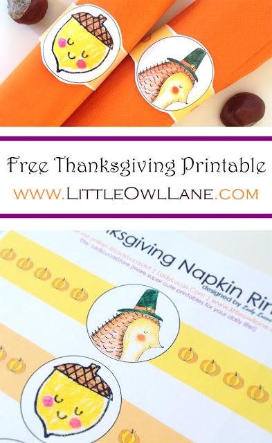 Free Thanksgiving Printable | LittleOwlLane