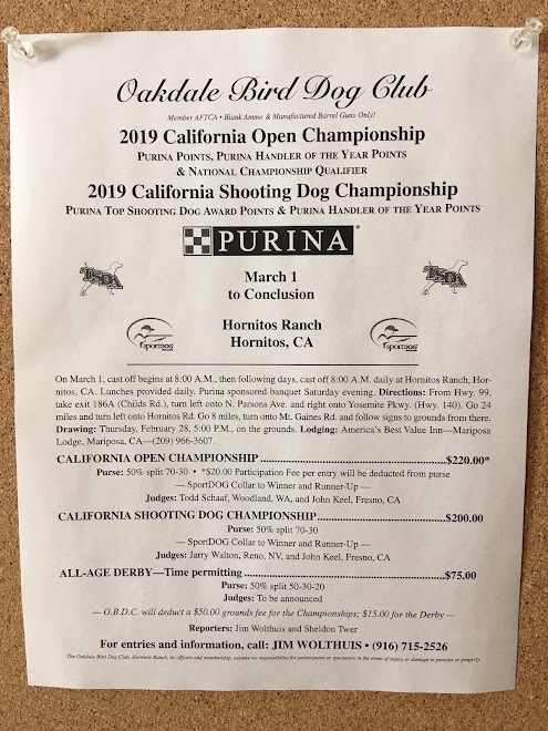California Championships, Hornitos Ranch, Hornitos, CA   March 29, 2019