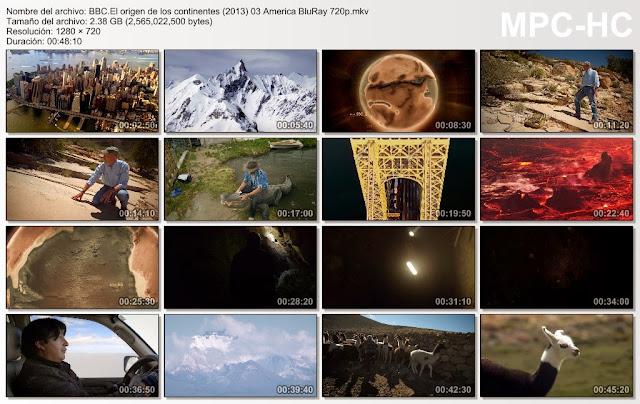 BBC El Origen de los Continentes  BRRip  9GB  4/4  720p MEGA