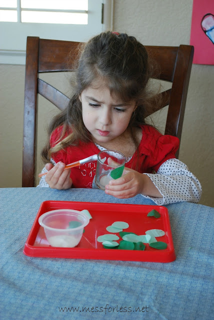 Decorating a Saint Patrick's Day craft