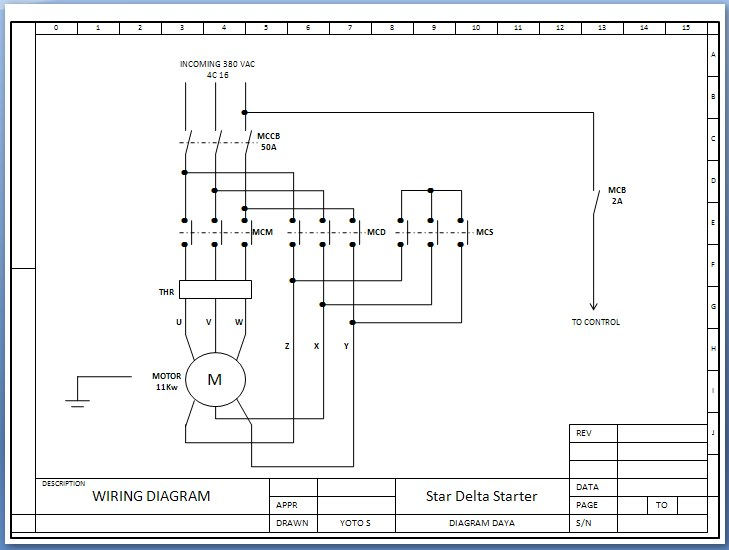 etnik sugitama engineering gambar diagram rangkaian starter star rh esugitama blogspot com 2 Speed AC Motor Wiring 2 Speed AC Motor Wiring