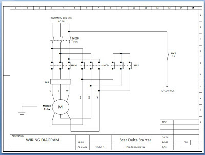 Gambar Diagram Rangkaian Starter Star Delta Motor Listrik 3 Fhase