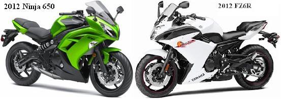 2012 Ninja 650 VS 2012 Yamaha FZ6   Motorcycles and Ninja 250