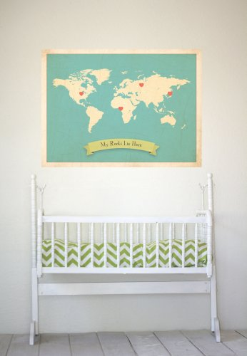 Mad for mid century map posters for a travel themed nursery world map poster gumiabroncs Gallery
