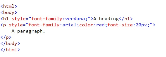 html style font color size