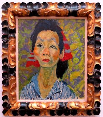 Яков Шапиро, Портрет азиатки, 1940