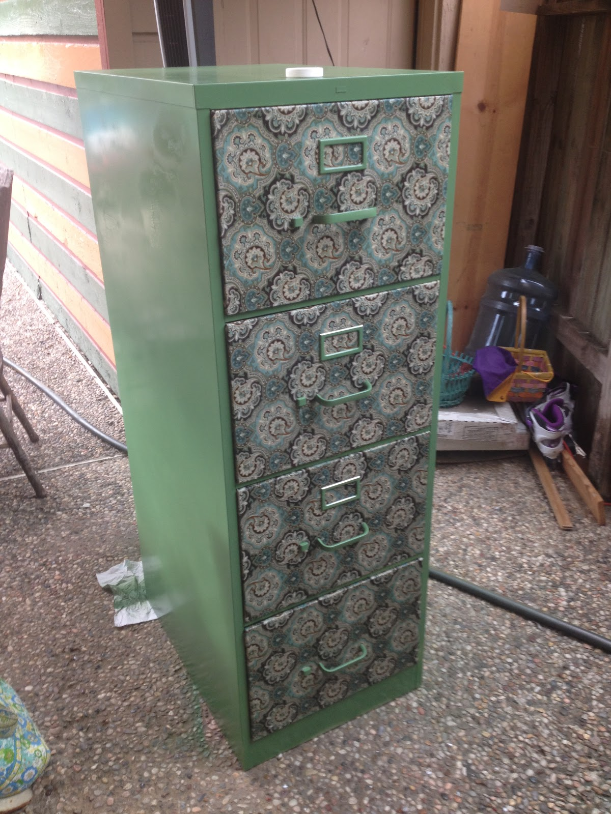 Katy barber on up cycling a file cabinet Upcycled metal filing cabinet