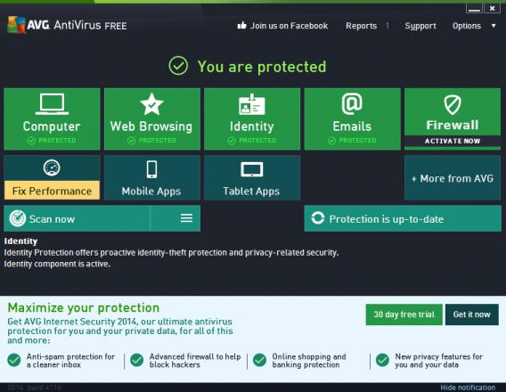 Download Software Antivirus AVG Free Edition 2014 14.0.4745 (32-bit)