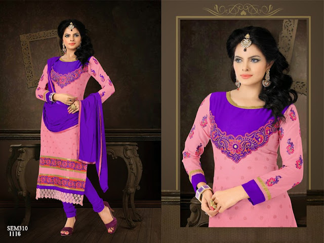 Buy Online Long Length Embroidery Cotton Salwar Kameez