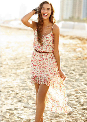 Floral Print Show High-low Dress