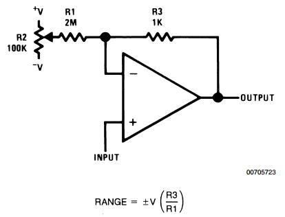 Offset Voltage Adjustment for Voltage Followers