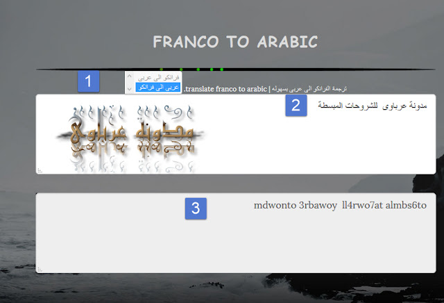Franco-To-Arabic-Write-read-learn