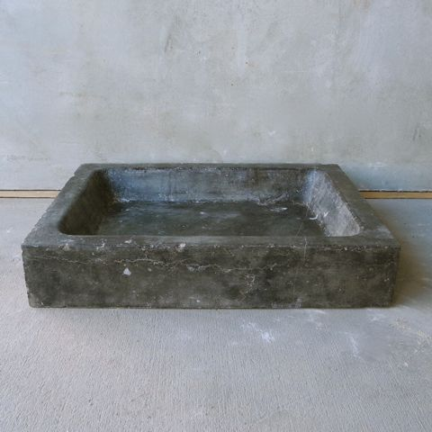 19th Century Belgian Blue Stone Sink from the Kitchen of a Belgian House via Chateau Domingue as seen on linenandlavender.net