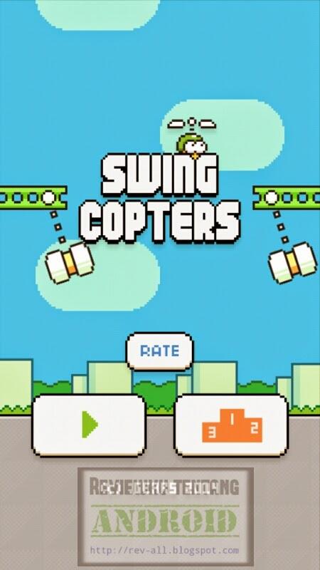 Tampilan utama permainan Swing Copter - Tantangan setelah flappy bird (revv-all.blogspot.com)