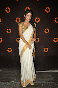Actress Nivitha Glamorous photos in Saree-thumbnail-2