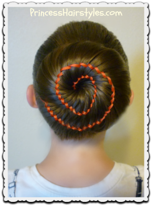Marvelous Ribbon Swirl Bun Hairstyle Tutorial Hairstyles For Girls Hairstyle Inspiration Daily Dogsangcom