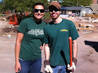 Dianna and I planting a garden at the Botanical Garden on April 21st.