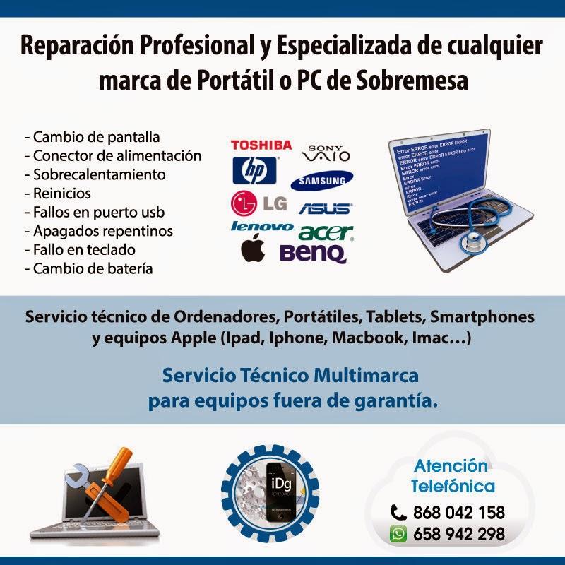 Idg reparaciones abril 2015 for Servicio tecnico murcia