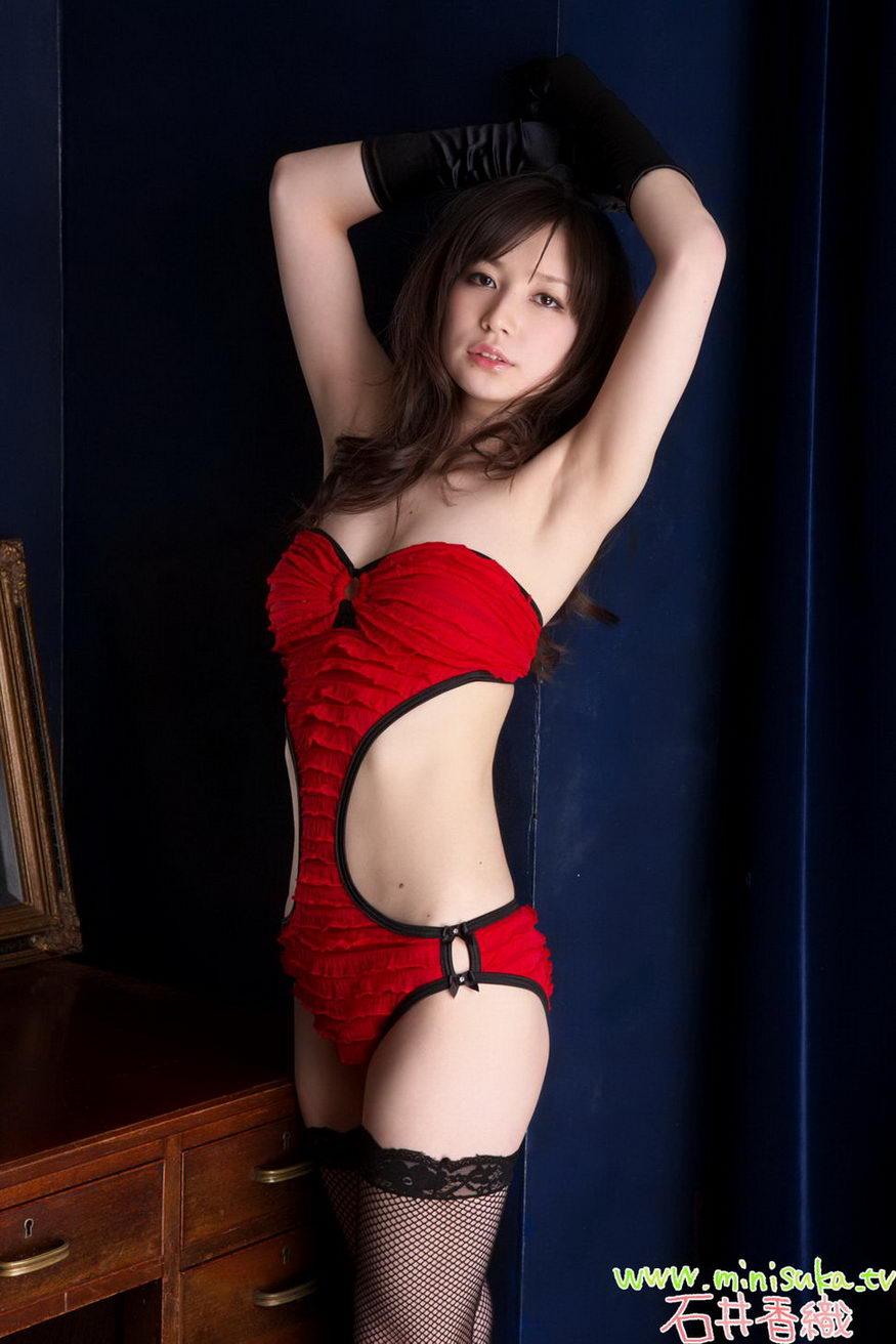 kaori ishii sexy red