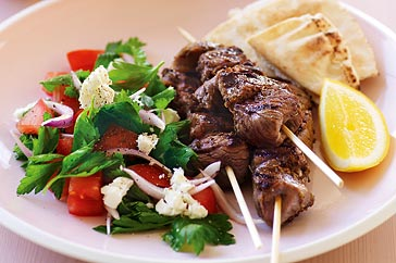 Lemon & oregano lamb kebabs
