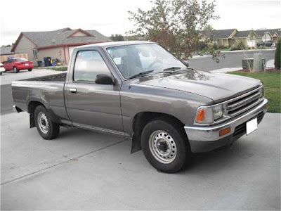 1989 Toyota pickup stock grey