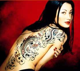 Black triball tattoo for girl