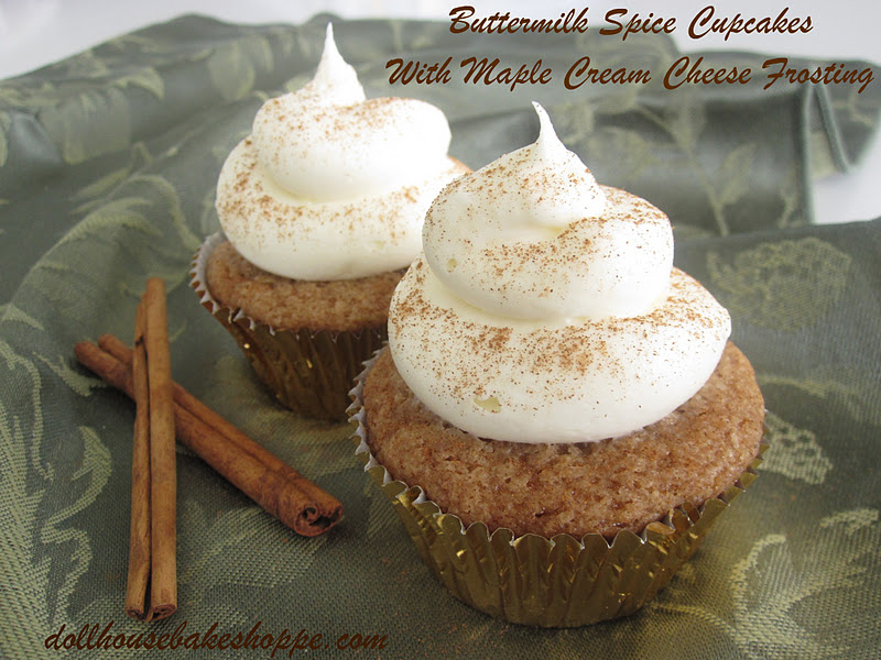 ... Ann Bakes: Buttermilk Spice Cupcakes with Maple Cream Cheese Frosting