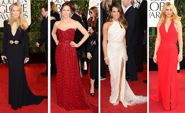Kate Hudson, Jennifer Garner, Lea Michele, Claire Danes, Golden Globes, red carpet, fashion