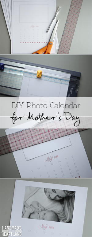 Mother's Day Photo Calendar - Free Printable - HandmadeintheHeartland.com