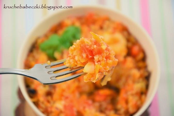 Kasza jęczmienna  mazurska z kurczakiem i warzywami