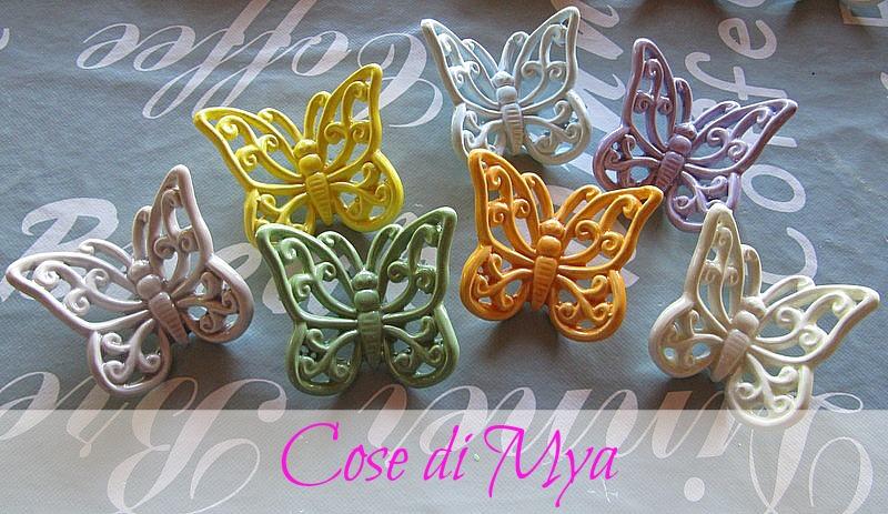 farfalle in ceramica