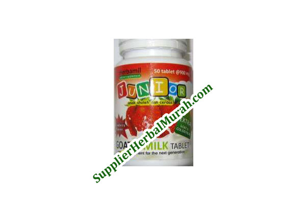 Herbamil Junior Goat's Milk Tablet rasa Strawberry