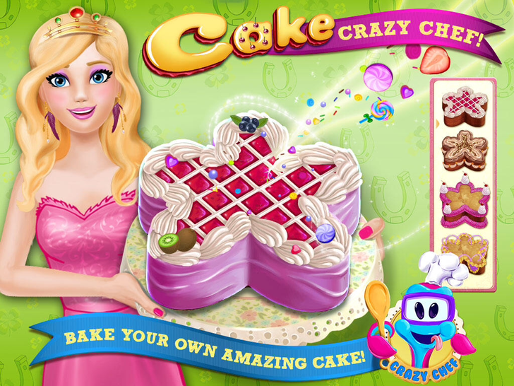 Cake Crazy Chef - Create Your Event; Make, Bake & Decorate Cakes App iTunes App By Kids Fun Club by TabTale - FreeApps.ws