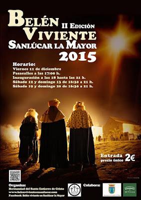 BELÉN VIVIENTE DE SANLÚCAR LA MAYOR 2015 - SEVILLA