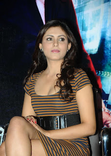 Madhu Shalini Spicy Pictures Wearing a Stirpe Mini Skirt Must See Beauty HQ Pics