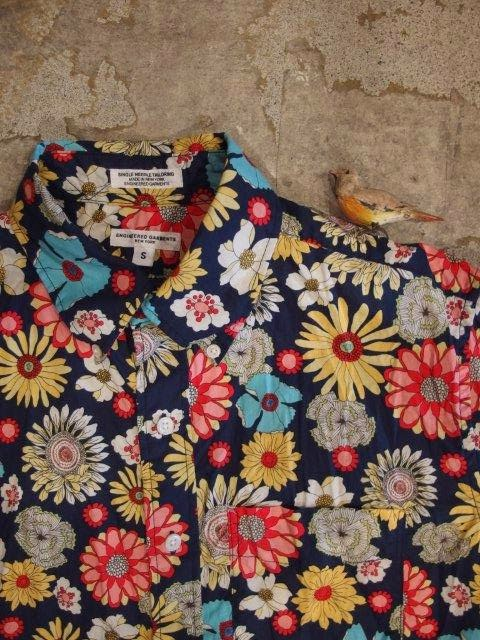 engineered garments spring/summer 2014 19th century bd shirt in navy big floral print sunrise market
