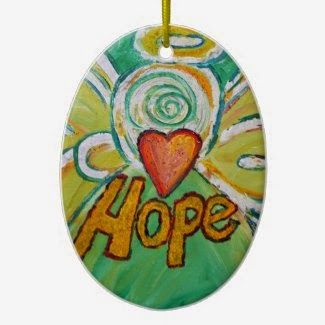 Hope Angel Word Ornament