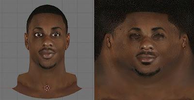 NBA 2K13 Mario Chalmers Face Texture