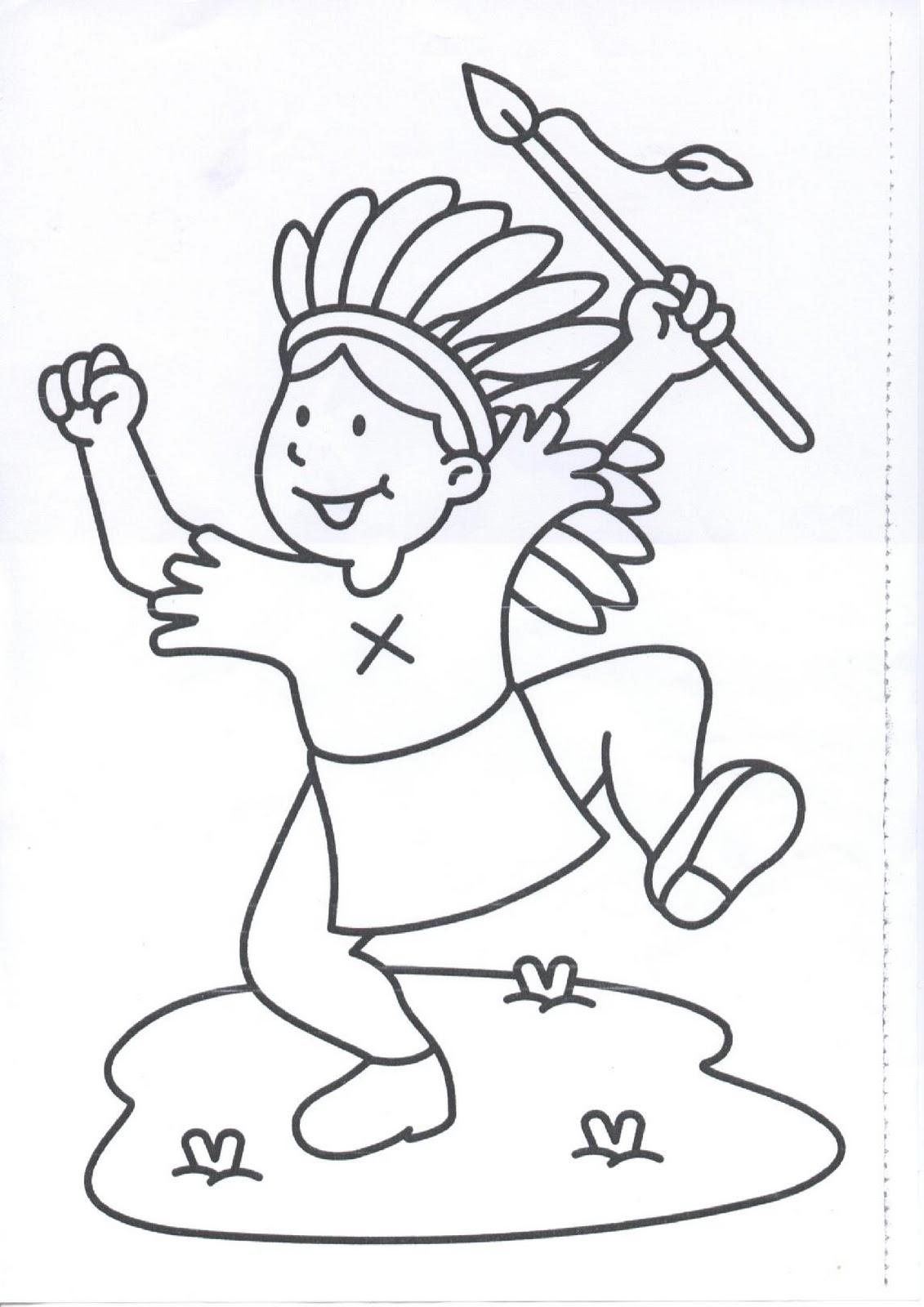 Mi colección de dibujos: Indios dibujos para colorear