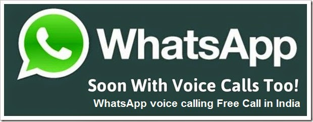 WhatsApp voice calling Free Call in India