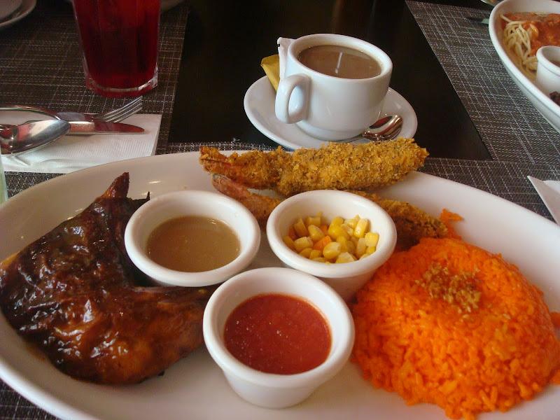 shrimp, corn, java rice platter at Peri-Peri Chicken at CityWalk Robinson's Place Bacolod