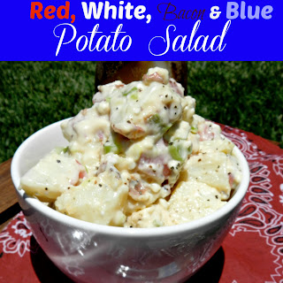 Red, White, Bacon & Blue Potato Salad