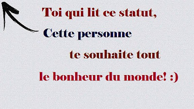 Statut facebook bonheur