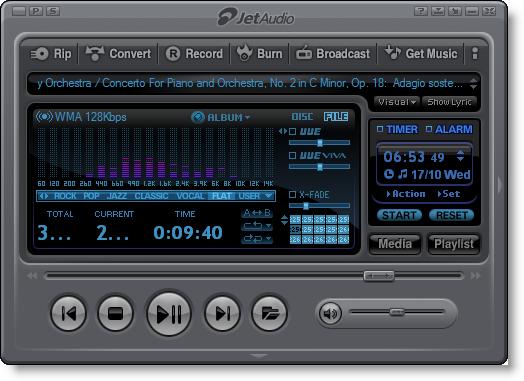 ������ JetAudio Basic ������ ����� jet-audio-1.png