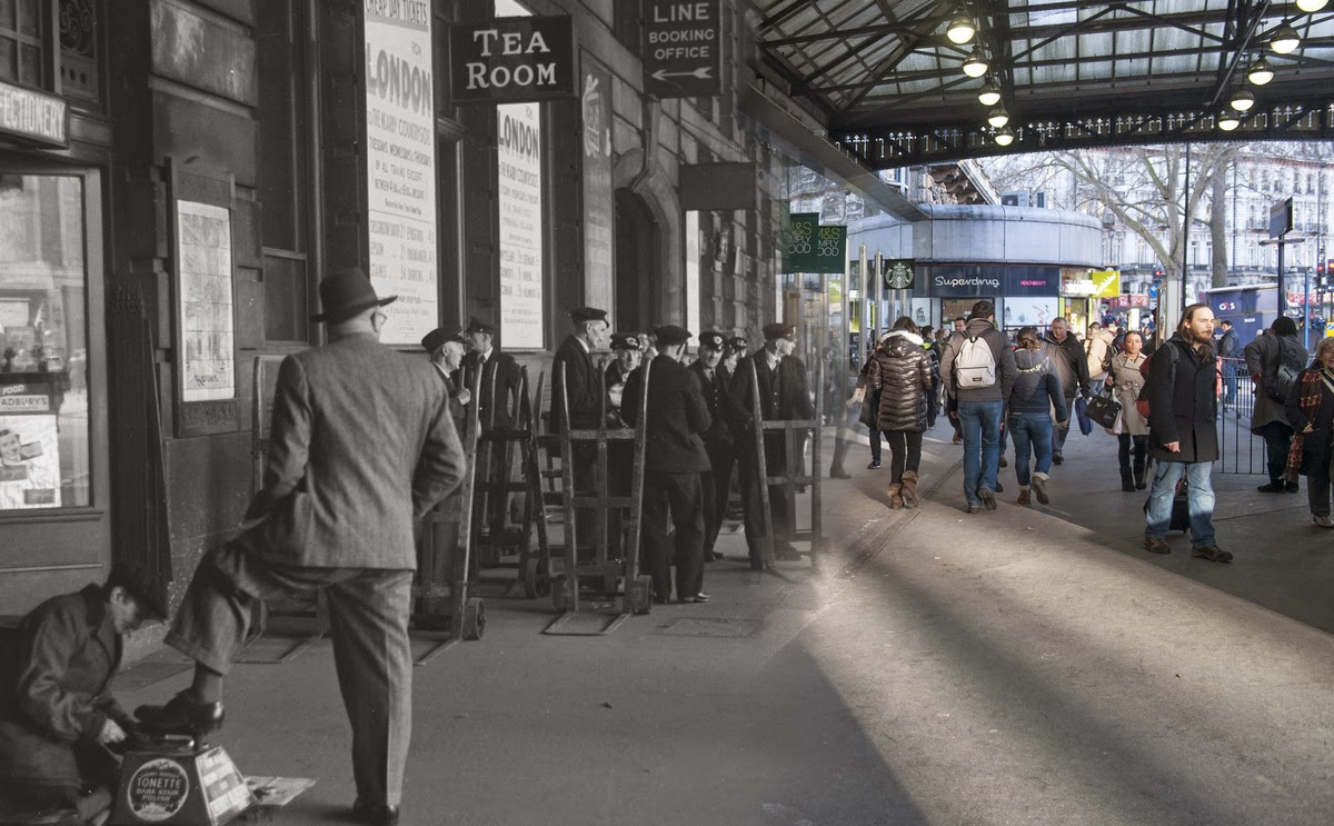 16 Ghostly Images Of London Street Scenes Then And Now