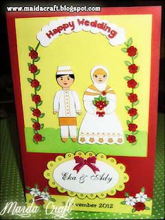"... gambar boneka pengantin, tag nama pengantin, tag kata ""Happy Wedding"