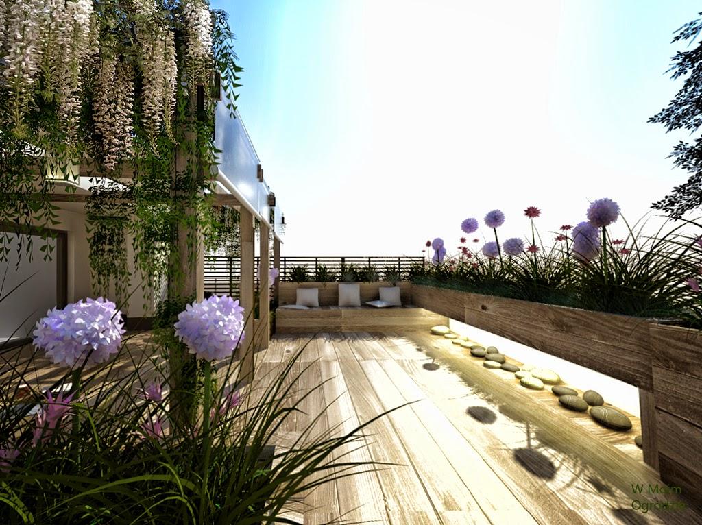 ogrody na dachach projektowanie, warszawa, aranżacja dużych tarasów