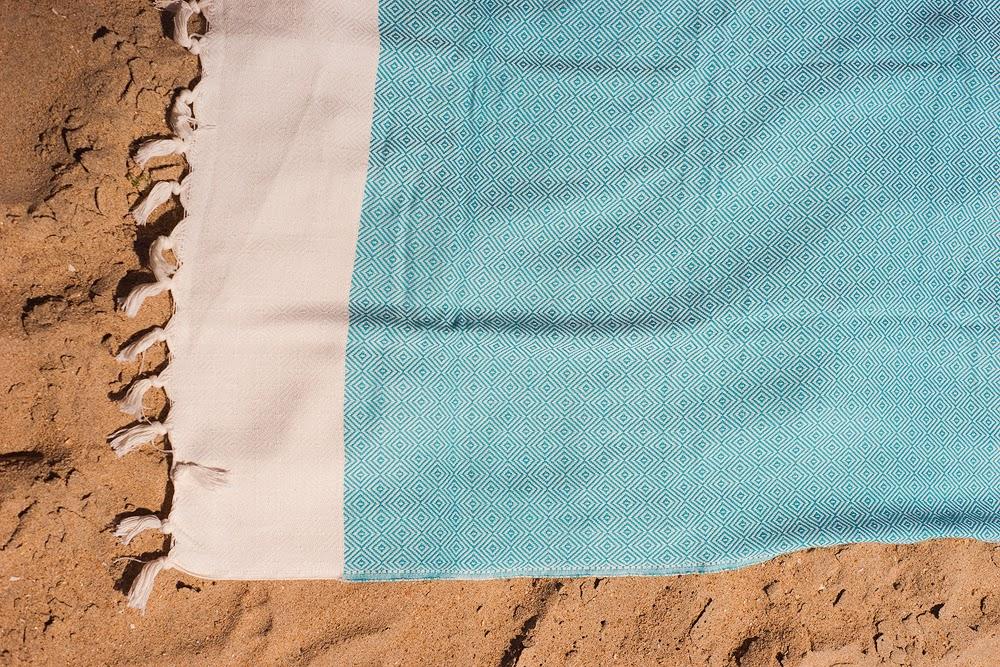 Detalle toalla Cerdeña turquesa